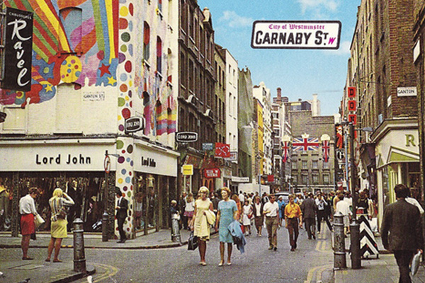 Carnaby Street Londres 60'