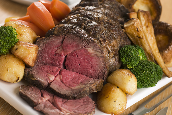 Roast Beef en un English Pub