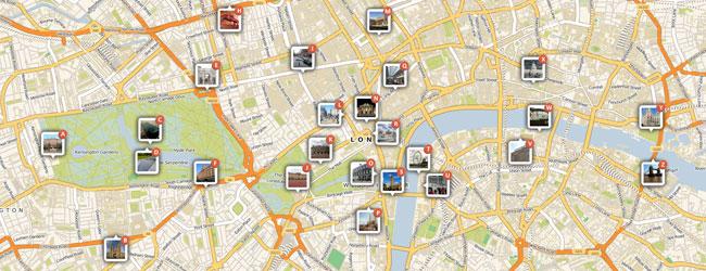 Mapa de Londres 650x250