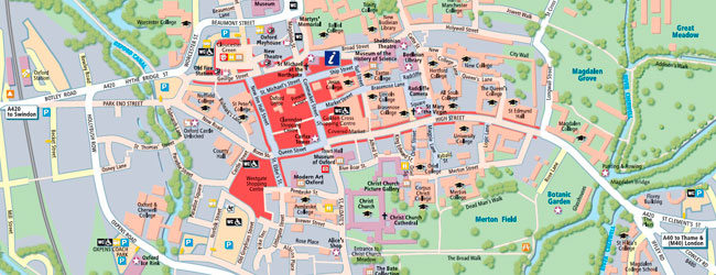 Mapa de Oxford 650x250