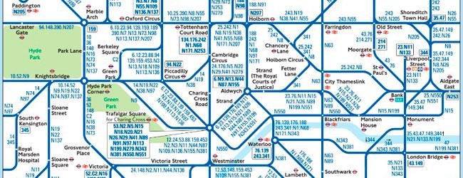Mapa autobuses nocturnos 650x250