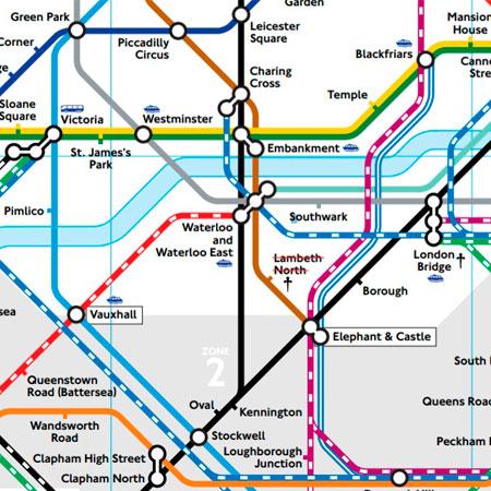 Mapa de tren de Londres